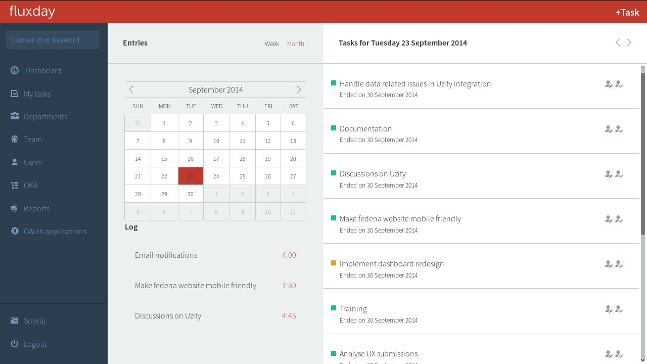 Fluxday - Opensource task & productivity management tool